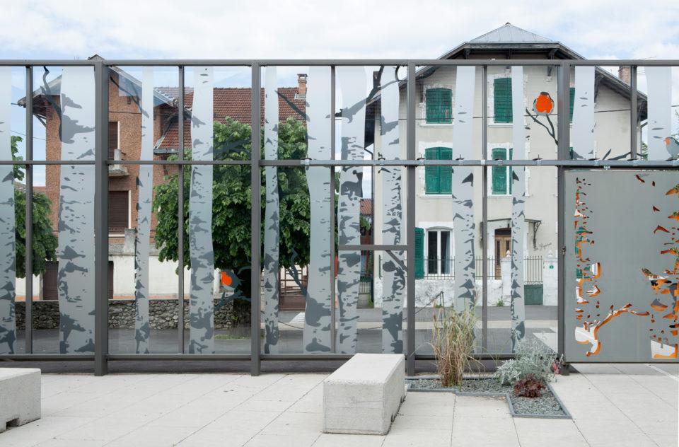 """Salle polyvalente St Jean en Royans<br><span style=""""font-size:12px"""">Futur a architecte</span>"""
